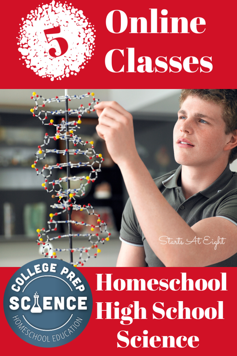Teaching high school science is easy using these Online Classes for Homeschool High School Science! Ease mom's stress and get college prep for your student!