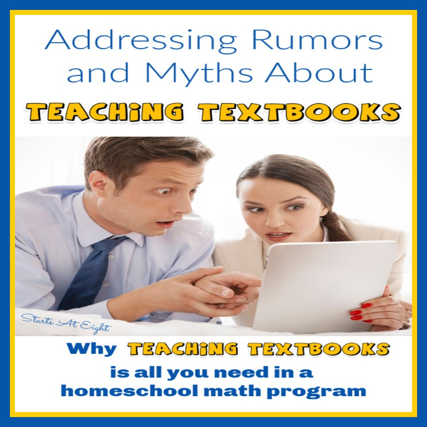 Addressing Rumors and Myths About Teaching Textbooks