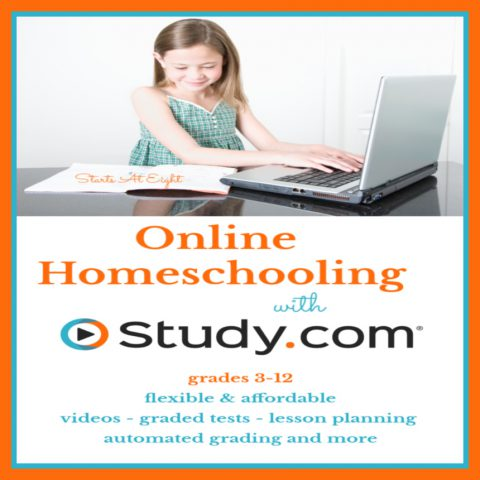 Study.com offers flexible & affordable online homeschooling courses for homeschoolers in grades 3-12 with features like automated grading and a mobile app!