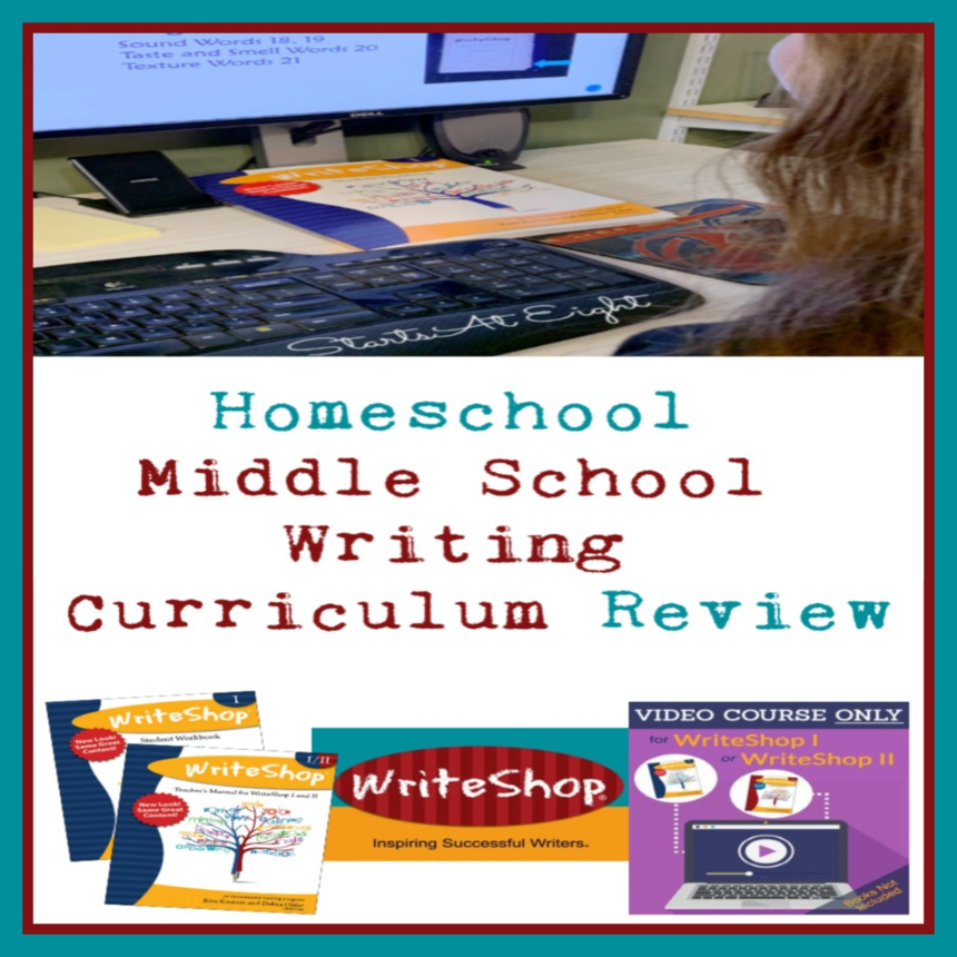 Homeschool Middle School Writing Curriculum Review