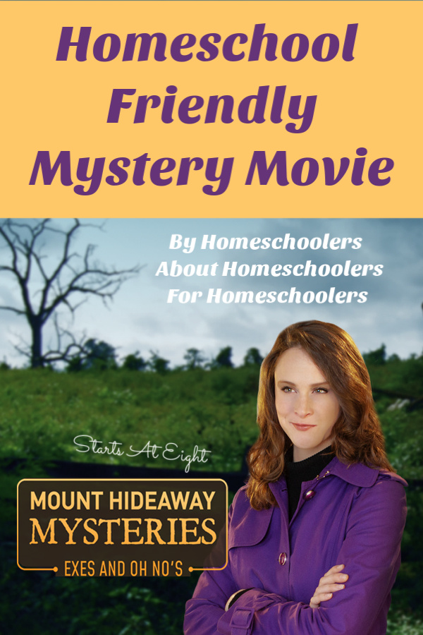 Mount Hideaway Mysteries: Exes and Oh No's is a homeschool friendly mystery movie made BY Homeschoolers, ABOUT Homeschoolers, FOR Homeschoolers! A Review from Starts At Eight