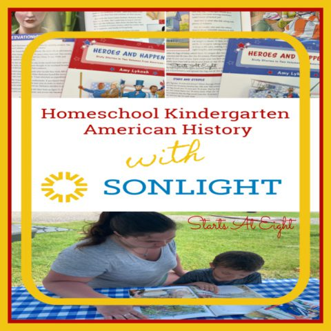 Homeschool Kindergarten American History: A review of Sonlight's Exploring American History: History / Bible / Literature K from Starts At Eight