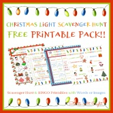 Christmas Light Scavenger Hunt Eye Spy Printable