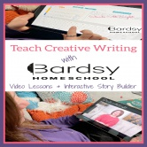 Teach Creative Writing with Bardsy Homeschool