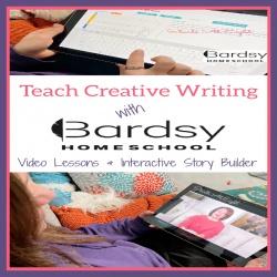 Teach Creative Writing with Bardsy Homeschool