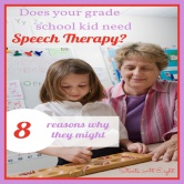 Does Your Grade School Kid Need Speech Therapy?
