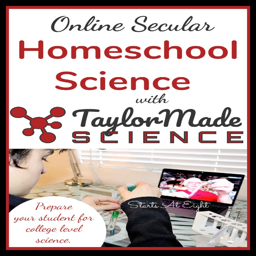 Online Secular Homeschool Science with Taylor Made Science
