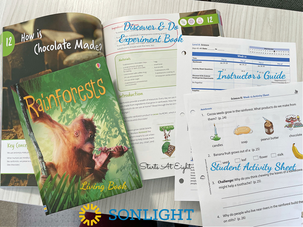 Sonlight Science Discover & Do is a homeschool science curriculum that uses literature along with hands-on experiments and worksheets to help engage kids in science topics. A review from Starts At Eight