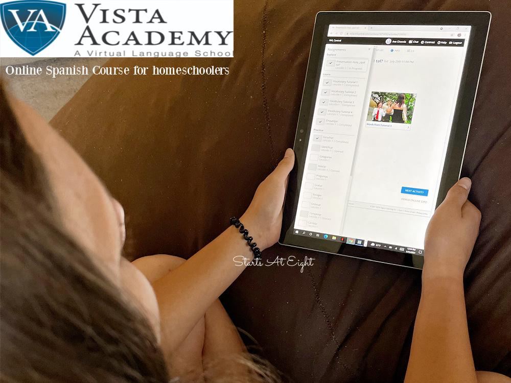 Vista Academy Online Spanish Course for Homeschoolers