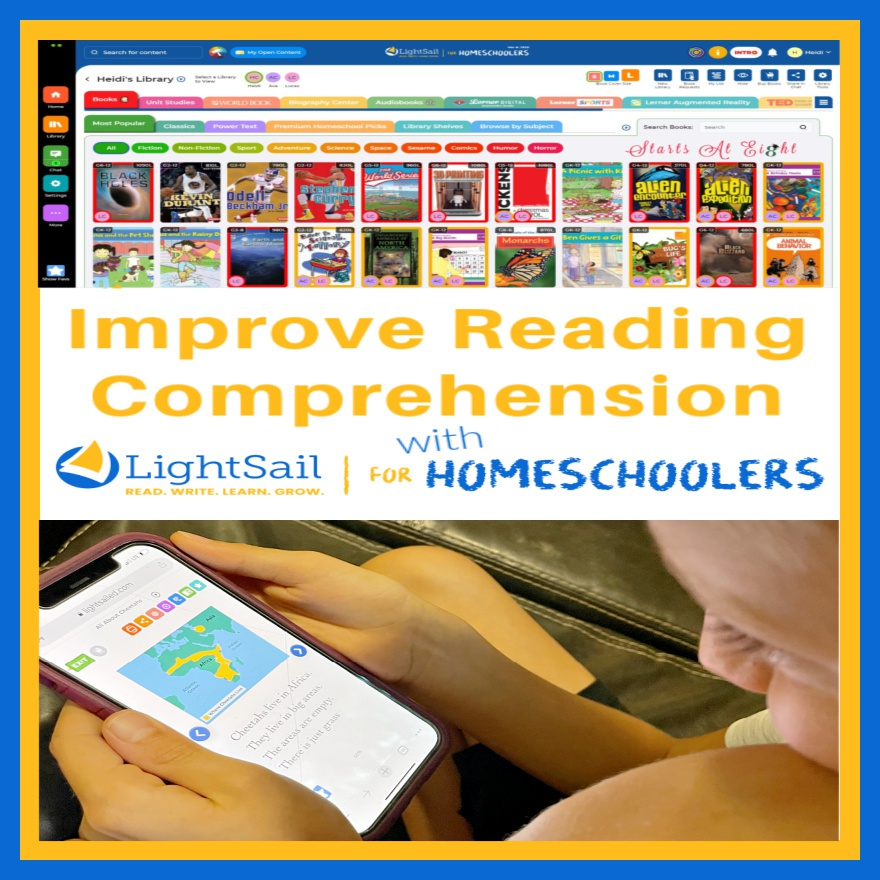 Improve Reading Comprehension with LightSail for Homeschoolers