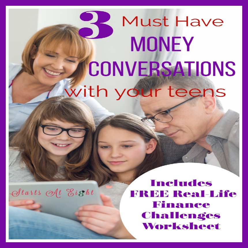 3 Must Have Money Conversations with Your Teen